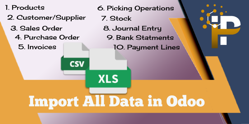 Import All Data in Odoo using XLS/CSV