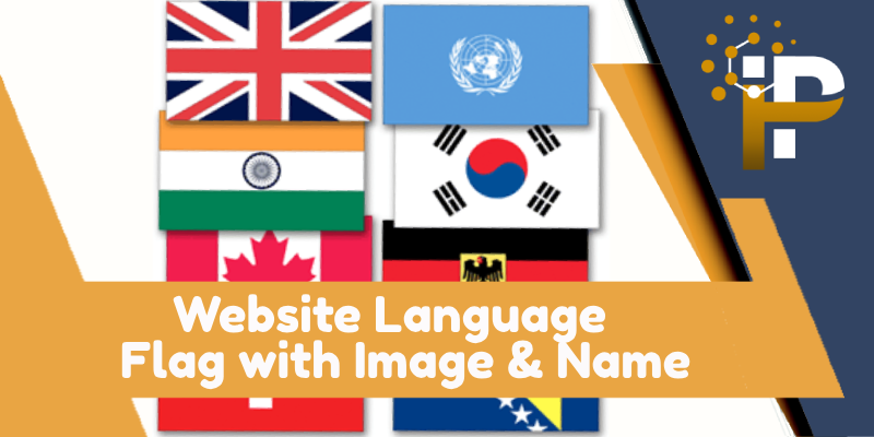 Website Language Flag with Image & Name