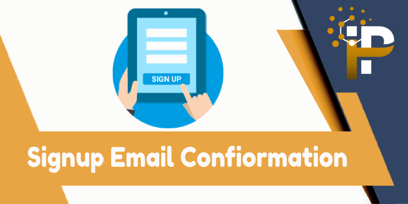 Signup : Email Confiormation with reCAPTCHA