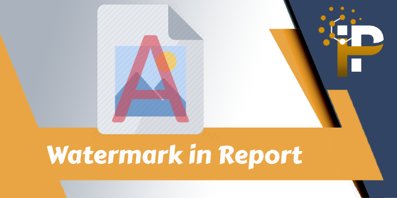 PDF Report with Image & Text Watermark